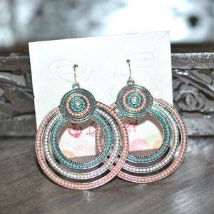 NEW Premier Designs Round Dangle Earrings